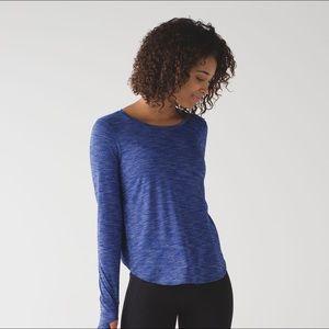 Lululemon On the Run Tee Shirt Long Sleeve Top